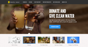Well branded, compelling stories and ways to donate.